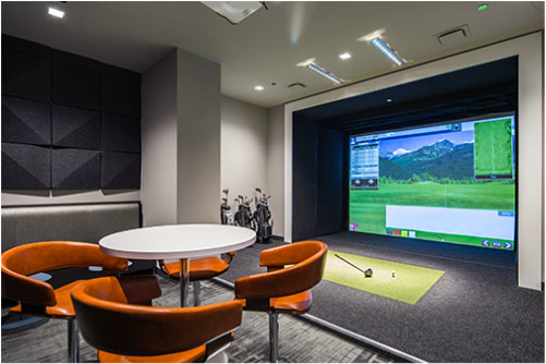 222 S Riverside Plaza Game Room and Golf Simulator